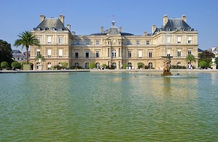 Luxembourg Palace and garden in Paris  photo