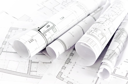 Part of architectural project  Stock Photo - 9178963