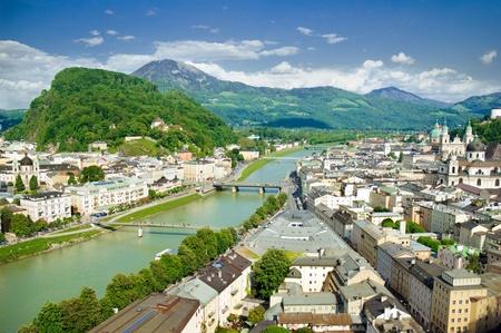 of mozart: Panorama of Salzburg. Austria