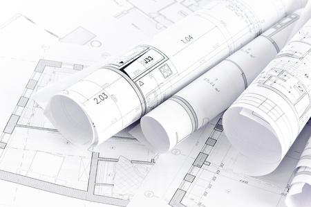 Une partie du projet architectural Banque d'images