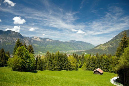 Landscape in the bavarian Alps Stock Photo
