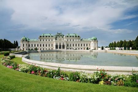 austria: Summer palace Belvedere in Vienna