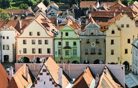 Historic houses in Cesky Krumlov. Czech Republic