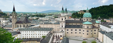 Panorama of Salzburg  Austria  photo