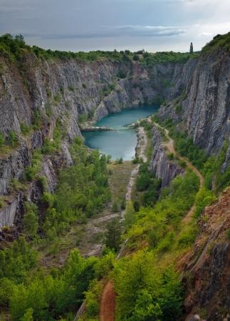 Stone quarry Big America near Prague, Czech Republic Stock Photo