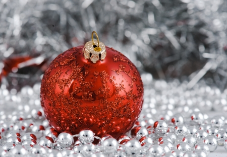 Christmas decoration  Focus on first ball Stock Photo - 16539917