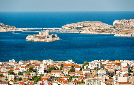monte cristo: view from Marseilles, France