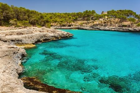 Park Natural Mondrago. Mallorca  Cala Mondrago. Summer