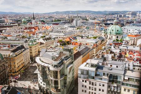 Widok Vienna City z dachu, Austria
