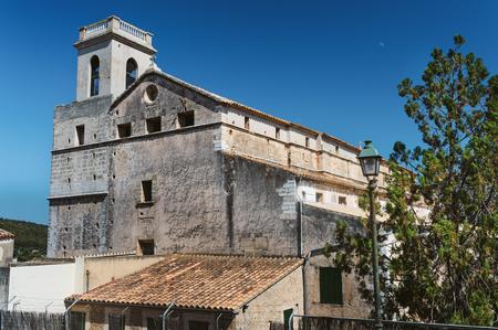 private school: Old architecture in Polenca, Mallorca. Private school