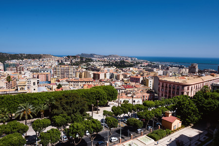 Arial Cagliari panoramic view Stock Photo