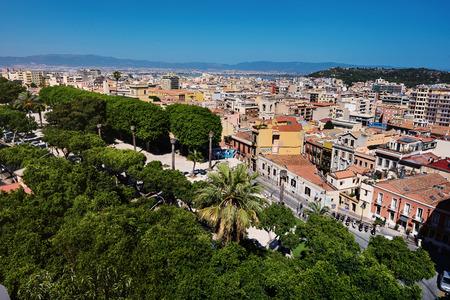 arial view: Arial Cagliari panoramic view Stock Photo