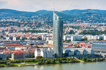 Aerial View Of Vienna City Stock Photo
