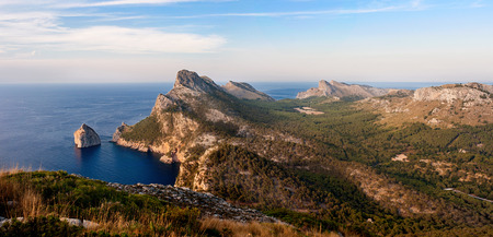 Panorama of Capa Formentor, Majorca Stock Photo