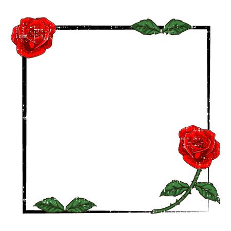 Rose frame Ilustrace