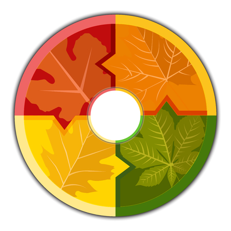 Autumn leaves disk Illustration