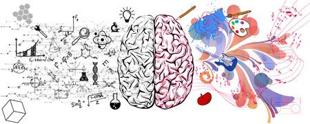 추상 두뇌 개념 일러스트