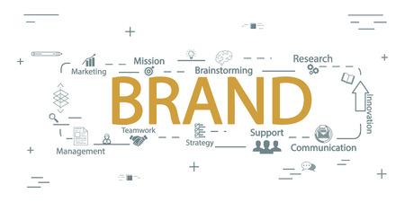 Brand vector creative concept