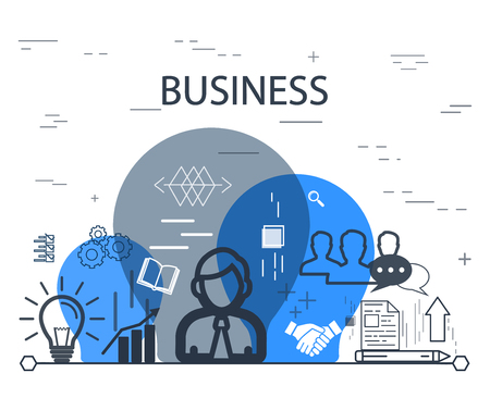 referrer: Business concept design vector illustration