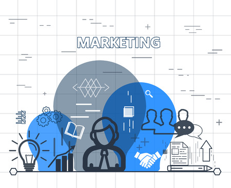 referrer: Marketing concept design vector illustration