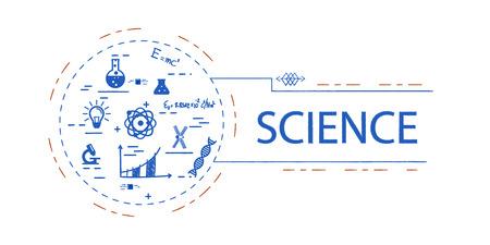 Science  creative vector concept Ilustrace
