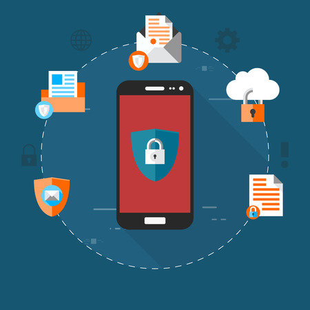 Security concept on smartphone