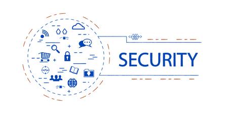 Security  creative vector concept