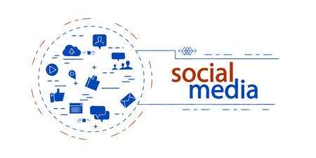 social media  creative vector concept
