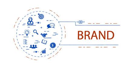 Brand  creative vector concept