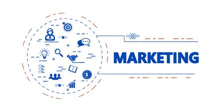 Marketing creative vector concept