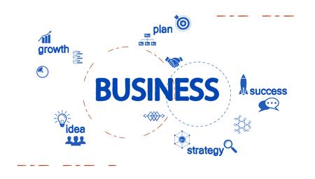 Business creative design vector illustration