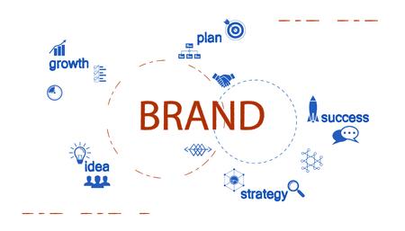 Brand creative design vector illustration