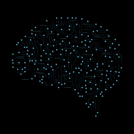 Brain concept made of dots illustration
