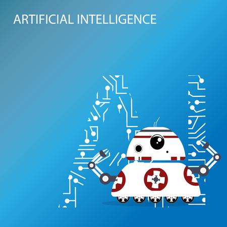Robot AI creative design illustration Illustration