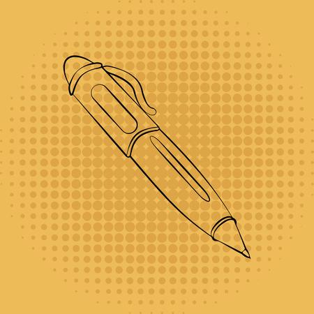 Pen auf Vintage Hintergrund Standard-Bild - 85078575