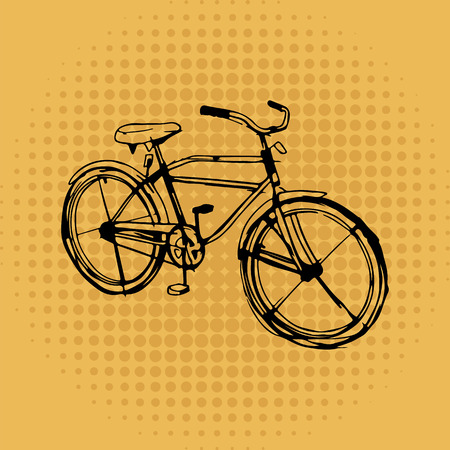 Bicycle on vintage background