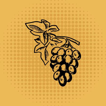 Grape on vintage background