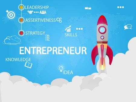 Entrepreneur creative concept vector illustration Ilustrace