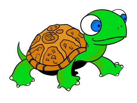 Funny turtle creative concept vector illustration Ilustrace