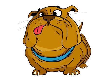 Cute dog vector illustration Ilustrace