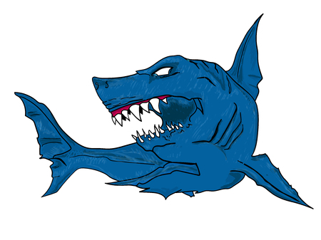 Angry Shark, vector illustration