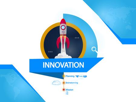 Innovation, rocket creative concept vector illustration Ilustrace