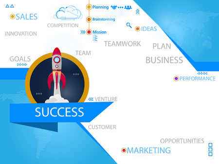 Success design concepts, easy to use and highly customizable vector illustration.