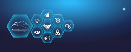 Digital Business Vector Illustration