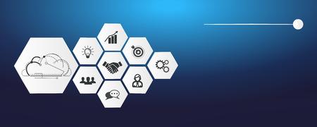 Digitale Geschäftsvektorillustration