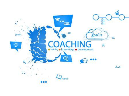 Coaching creative concept vector illustration