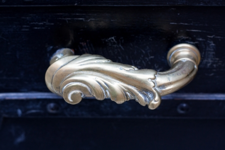 Closeup of antique door handle   photo