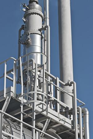 Los detalles de la refinación del petróleo y la planta de procesamiento de gas natural Foto de archivo - 66255068