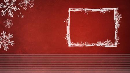 Fondo rojo de Navidad con marco blanco y copos de nieve Foto de archivo - 69342864