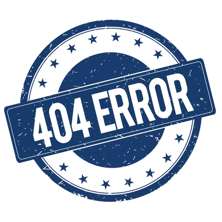 404 ERROR stamp sign text word logo blue. Stock fotó